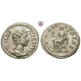 Römische Kaiserzeit, Julia Mamaea, Mutter des Severus Alexander, Denar 231, f.vz