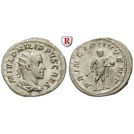 Römische Kaiserzeit, Philippus II., Caesar, Antoninian 244-247, ss-vz/vz