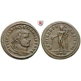 Römische Kaiserzeit, Diocletianus, Follis 297-298, vz/vz+