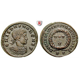 Römische Kaiserzeit, Crispus, Caesar, Follis 320-321, st