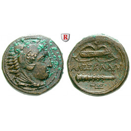 Makedonien, Königreich, Alexander III. der Grosse, Bronze 336-323 v.Chr., f.st