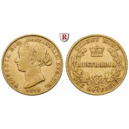 Australien, Victoria, Sovereign 1870, 7,32 g fein, ss