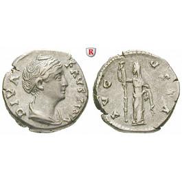 Römische Kaiserzeit, Faustina I., Frau des Antoninus Pius, Denar nach 141, ss