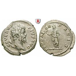 Römische Kaiserzeit, Septimius Severus, Denar 202-210, ss-vz