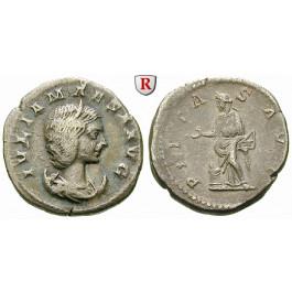 Römische Kaiserzeit, Julia Maesa, Großmutter des Elagabal, Antoninian 218-222, ss