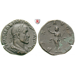 Römische Kaiserzeit, Maximinus I., Sesterz 235-236, vz