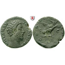 Römische Kaiserzeit, Marcus Aurelius, Sesterz 180, ss+