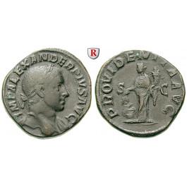 Römische Kaiserzeit, Severus Alexander, Sesterz 222-235, ss+