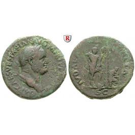 Römische Kaiserzeit, Vespasianus, Sesterz 71, f.ss/s-ss