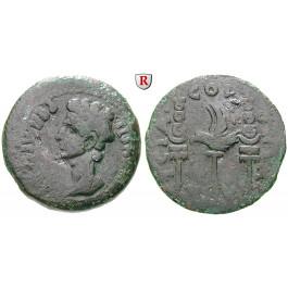 Römische Provinzialprägungen, Spanien-Hispania Ulterior, Julia Traducta, Augustus, Dupondius 27 v.-14 n.Chr., f.ss