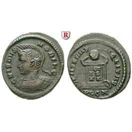 Römische Kaiserzeit, Crispus, Caesar, Follis 323-324, ss+