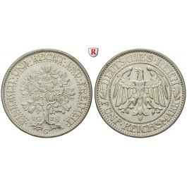 Weimarer Republik, 5 Reichsmark 1928, Eichbaum, G, ss-vz, J. 331