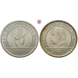 Weimarer Republik, 5 Reichsmark 1929, Verfassung, A, vz, J. 341