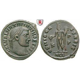 Römische Kaiserzeit, Maximinus II., Caesar, Follis 308, vz+