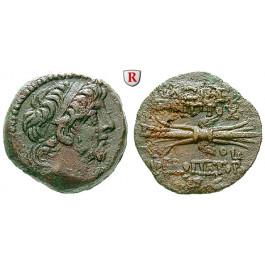 Syrien, Königreich der Seleukiden, Antiochos IX., Bronze Jahr 199 = 114-113 v.Chr., f.vz