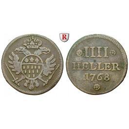 Köln Stadt 4 Heller 1768 Ss