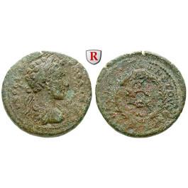 Römische Provinzialprägungen, Kilikien, Anazarbos, Commodus, Assarion 180/181 (Jahr 199), ss/s