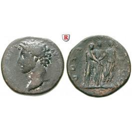 Römische Kaiserzeit, Marcus Aurelius, Caesar, Sesterz 145, f.ss