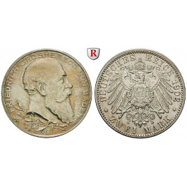 Deutsches Kaiserreich, Baden, Friedrich I., 2 Mark 1902, Regierungsjubiläum, G, ss-vz/vz, J. 30