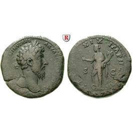 Römische Kaiserzeit, Marcus Aurelius, Sesterz 177, ss