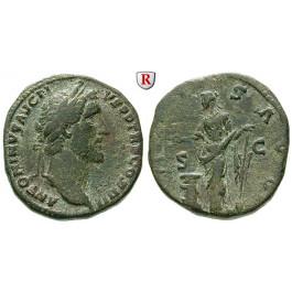 Römische Kaiserzeit, Antoninus Pius, Sesterz 145-161, ss