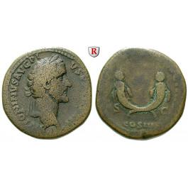 Römische Kaiserzeit, Antoninus Pius, Sesterz 148-149, f.ss