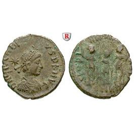 Römische Kaiserzeit, Arcadius, Bronze 383-388, ss/f.ss