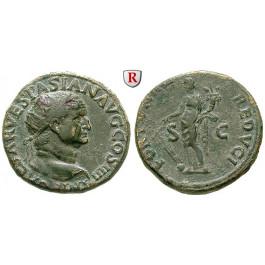 Römische Kaiserzeit, Vespasianus, Dupondius 72, ss-vz