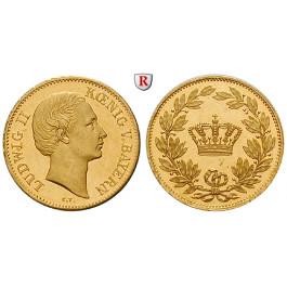 Bayern, Königreich, Ludwig II., Dukat o. J. (1864), 3,43 g fein, vz