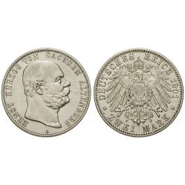 Deutsches Kaiserreich, Sachsen-Altenburg, Ernst, 2 Mark 1901, A, ss+, J. 142