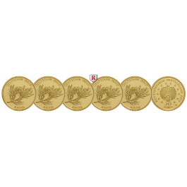 Bundesrepublik Deutschland, 20 Euro 2013, ADFGJ komplett, 19,45 g fein, st
