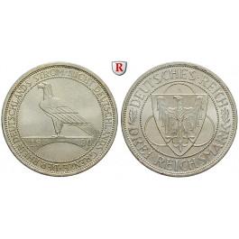 Weimarer Republik, 3 Reichsmark 1930, Rheinlandräumung, A, vz/vz-st, J. 345