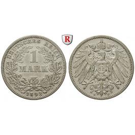 Deutsches Kaiserreich, 1 Mark 1893, E, ss, J. 17