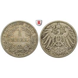 Deutsches Kaiserreich, 1 Mark 1896, J, ss, J. 17