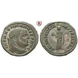 Römische Kaiserzeit, Maximianus Herculius, Follis 298-299, ss-vz