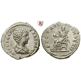 Römische Kaiserzeit, Geta, Caesar, Denar 200-202, f.vz