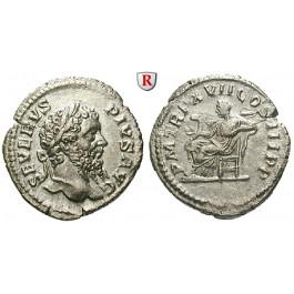 Römische Kaiserzeit, Septimius Severus, Denar 209, vz/ss+