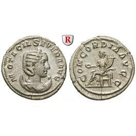 Römische Kaiserzeit, Otacilia Severa, Frau Philippus I., Antoninian 247, vz