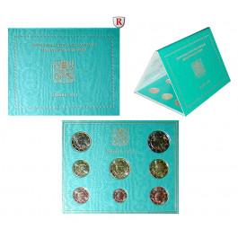 Vatikan, Benedikt XVI., Euro-Kursmünzensatz 2013, st