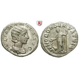 Römische Kaiserzeit, Julia Mamaea, Mutter des Severus Alexander, Denar 231, ss-vz