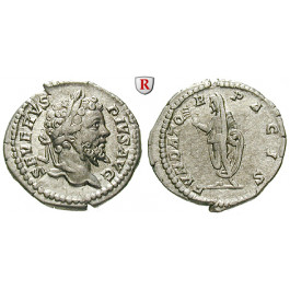 Römische Kaiserzeit, Septimius Severus, Denar 202-210, vz/f.vz