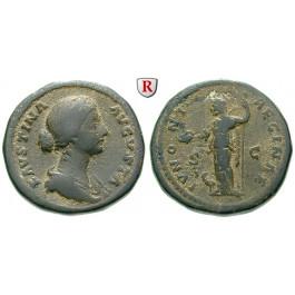 Römische Kaiserzeit, Faustina II., Frau des Marcus Aurelius, As 161-175, ss