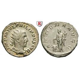 Römische Kaiserzeit, Philippus I., Antoninian 244-247, vz/ss-vz