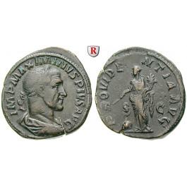 Römische Kaiserzeit, Maximinus I., Sesterz 235-236, ss+/ss
