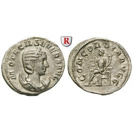 Römische Kaiserzeit, Otacilia Severa, Frau Philippus I., Antoninian 246-248, vz