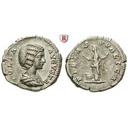 Römische Kaiserzeit, Julia Domna, Frau des Septimius Severus, Denar 201, f.vz/ss