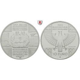 Bundesrepublik Deutschland, 10 Euro 2013, 150 Jahre Rotes Kreuz, A, PP
