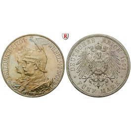 Deutsches Kaiserreich, Preussen, Wilhelm II., 5 Mark 1901, 200 Jahre Königreich, A, vz/vz-st, J. 106