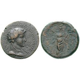 Römische Provinzialprägungen, Kilikien, Epiphaneia, Caligula, Bronze Jahr 108 = 40/1 n.Chr., ss-vz