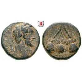 Römische Provinzialprägungen, Kappadokien, Caesarea, Hadrianus, Bronze Jahr 7=144 n.Chr., f.ss